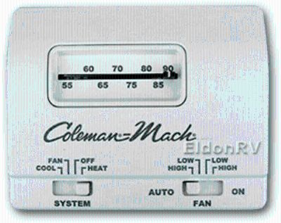 Coleman Mach RV thermostats - 12v, 6-wire Heat Cool Fan 7330-3362