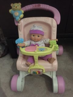 Baby stroller toy and walker