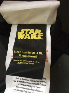 Star Wars 2005 size 7/8 battery pack costume