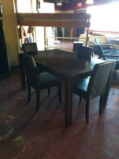 Solid Wood Dinette W/ 4 Parson Chairs