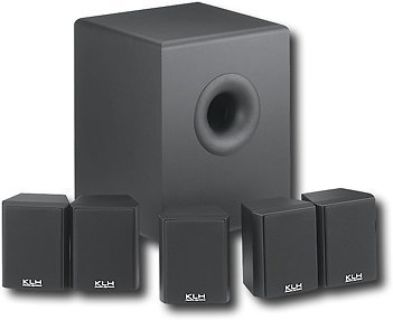 KLH HTA-4100 6-Pc.(5.1 Surround Sound)Home Theater System with Powered Subwoofer