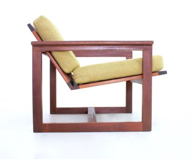 Mid Century Cube Chair By Westnofa Of Norway