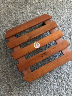 Wood plant stand with wheels