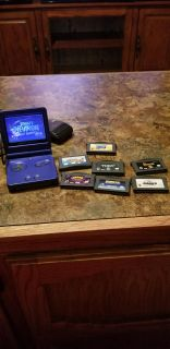 Gameboy advance color with 8 games