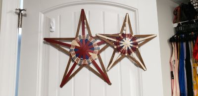 Set of 2 Longaberger Americana Stars