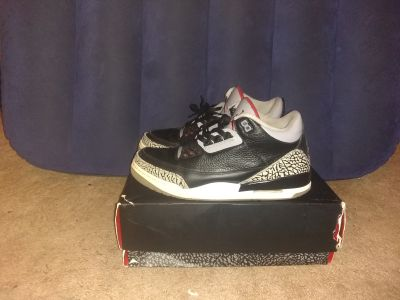 "Air Jordan 3s ""Black Cements"" or ""Cement 3s"" 2011"