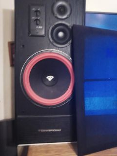 Pair of cerwin Vega 12 inch cerwin vega subs adjustable mids and highs