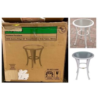 Better Homes and Gardens Azalea Ridge Outdoor Side Table, White
