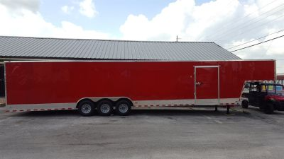 2018 Freedom Trailer Enclosed Cargo (Red)