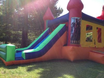 Jumpers combo jumpers w/high climb huge slide basketball hoop