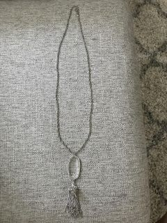 Silver and clear Rayne Kendra Scott necklace