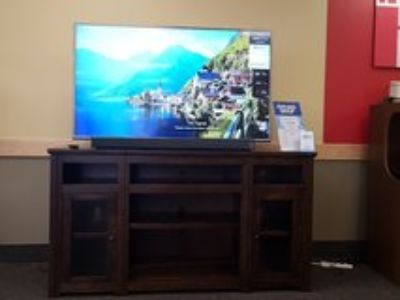 "65"" Smart TV, Samsung sound, & 72"" TV stand"