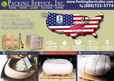 Packing Service, Inc. Flat Rate Shipping Quotes and Palletizing Furniture - Birmingham, Alabama