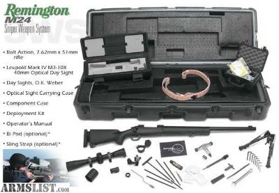 For Sale: Remington M24 with full deployment kit and other extreemly rare items