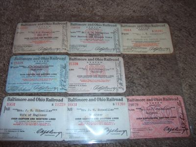1920s Railroad Passes