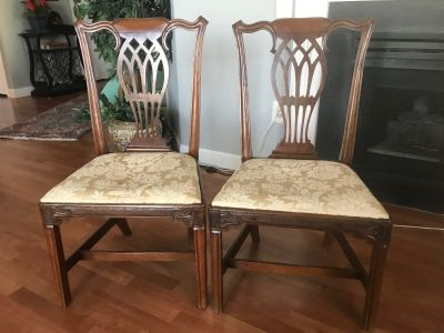 Irish Chippendale Chairs
