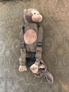 Monkey toddler backpack / safety harness