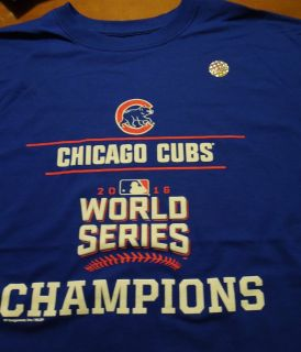 New Official Chicago Cubs 2016 World Series Champions Tee Shirt Men's Large