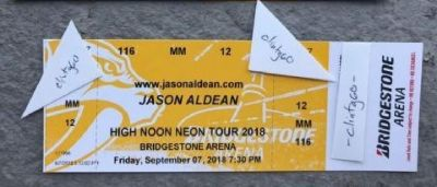 2 tickets * Sec 116 Row MM! * Jason Aldean, Luke Combs 9/7/18 Nashville