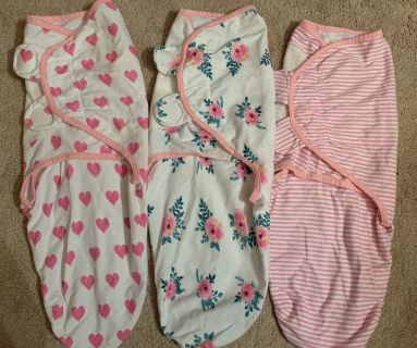 Emma + Ollie Adorable baby girl swaddles 0-3 months