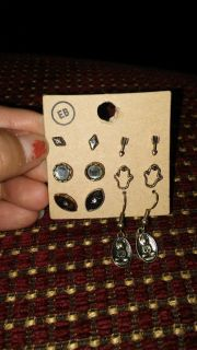 New. Earings $6 for the set.