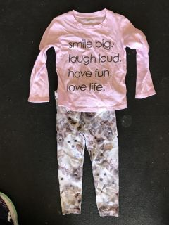 Toddler size 2t outfit leggings and top