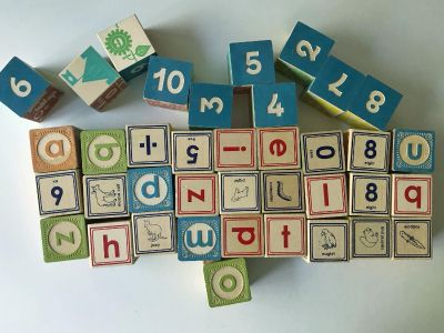 Uncle Goose Wood Lowercase Letter + Number Blocks