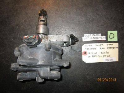 Buy 93 94 TOYOTA T-100/4RUNNER 3.0L DISTRIBUTOR #19100-65020/229100-8740 *See item* motorcycle in Chatsworth, California, US, for US $43.00