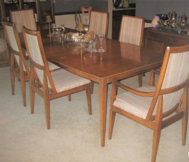 Mid-Century Modern Dining Room Set - Table, China Cabinet, Chairs & Tea Cart - KROEHLER