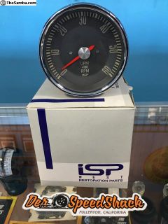 Type 3 Tachometer - Grey Face with Red Needle