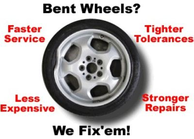 we can fix them Bent or Cracked Wheels