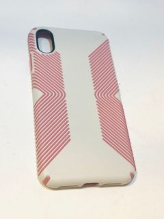 Speck Pink and Off-White Case for iPhone XS Max $10