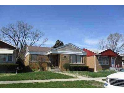 3 Bed 1 Bath Foreclosure Property in Riverdale, IL 60827 - S Edbrooke Ave