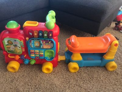 Vtech push ride on train toy for toddlers
