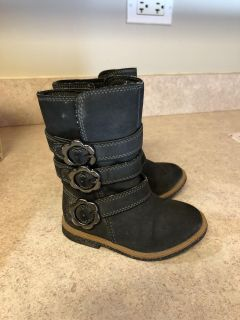 Charcoal gray Toddler Carters boots size 6