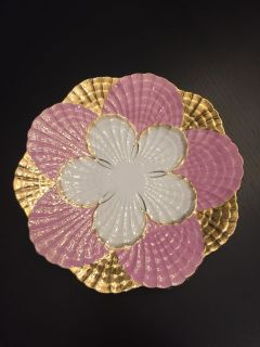 Antique 24 k Gold and Pink beautiful Plate, excellent condition, no chips or cracks,