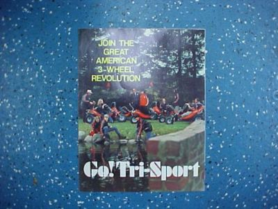 Buy Tri-Sport Brochure *VINTAGE* MINT New Old Stock (NOS) motorcycle in Coldwater, Michigan, United States, for US $6.50