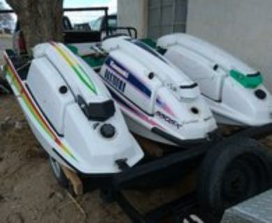 3 Jet Skis with trailer and tool box