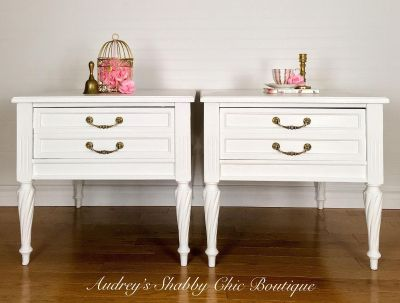 Luxurious Milky White Side Tables, Vintage End Tables