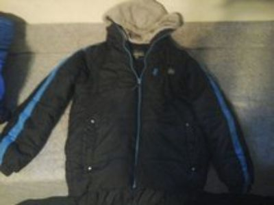 boys protection system winter coat size 10/12 with hood