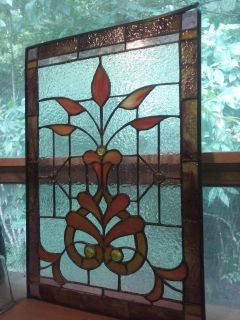 Antique Victorian Stained Glass *DAMAGE ON CORNER*