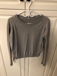 Beautiful Dove Grey Lululemon Dual-Design Active Knitwear Sweater, Excellent Condition, Size 8