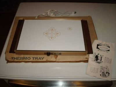 Vintage Cornwall THERMO TRAY Electric Food Warmer New in Box L@@K!!