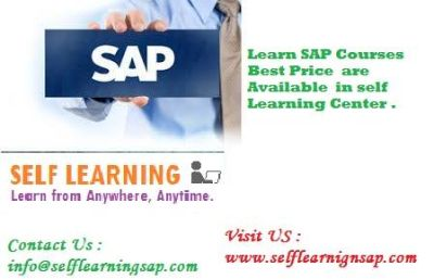 Learn SAP Courses Best Price are Available in self Learning Center