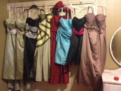 BRIDES MAID AND PROM DRESSES