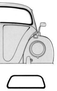 73-79 Vert front Window Seal No groove
