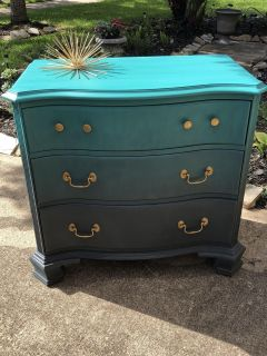 Unique ombr solid wood accent piece dresser refinished