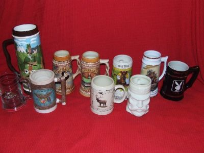 Stein Mug Collection Wyoming Tennessee Indian ++ Ceramic & Porcelain