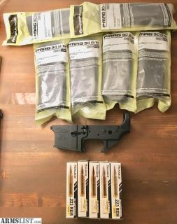 For Sale: AR15 Stripped Lower, PMags, Ammo