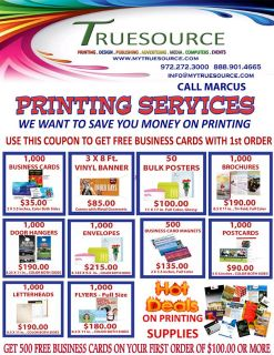 $35, We can save you money on Business Cards, Brochures, Banners, Flyers